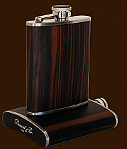 Brizard 6oz Macassar Ebony Flask