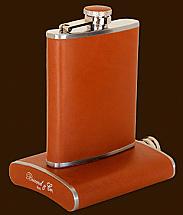 Brizard 8oz Sunrise Tan Leather Flask