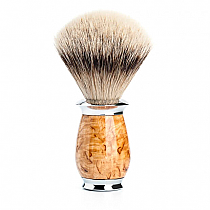 Muhle Shave Brush Silver Tip Badger Karelian Masur Birch