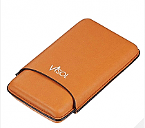 Visol Dakota Tan 60 Ring Gauge Cigar Case - Holds 3 Cigars