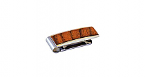 Brizard Money Clip Curly Walnut