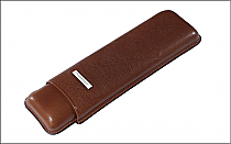Cigar case 2 churchill brown