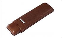 Cigar case 2 churchill brown