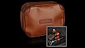 Travel wash bag brown