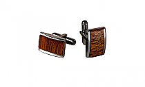 Brizard Cuff Links Curly Walnut