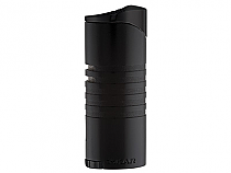 XIKAR Ellipse III Triple Flame Lighter Black