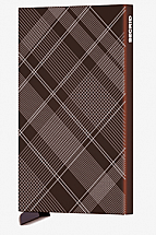 Secrid Card Protector Laser Zigzag Tartan Brown