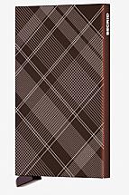Secrid Card Protector Laser Zigzag Tartan Brown