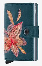 Secrid Miniwallet Stitch Magnolia Petrolio