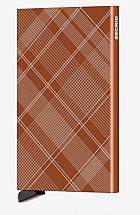 Secrid Card Protector Laser Tartan Rust
