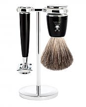 Muhle RYTMO 3 Piece Black Resin/Chrome Shave Set