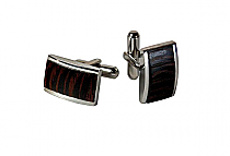 Brizard Cuff Links Wenge Wood