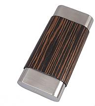 Visol Terran Ebony Wood & Stainless Steel Cigar Case