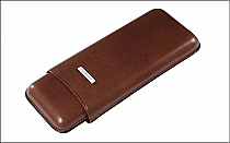 Cigar case 3 churchill brown