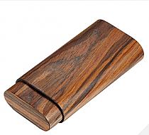 Visol Timber Cherry Wood 3 Cigar Case