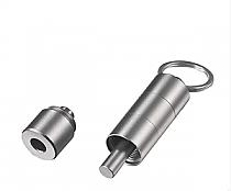 Visol Torpedo Three Cut Cigar Punch - Silver