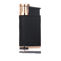 Colibri EVO Single-Jet Flame Lighter Black/Rose Gold
