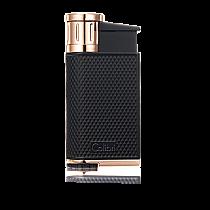 Colibri EVO Single-Jet Flame Lighter Black/Rose Gold