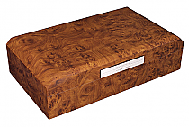 Humidor octagon walnut 100's