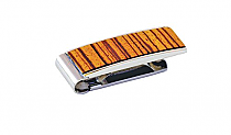 Brizard Money Clip Zebrawood