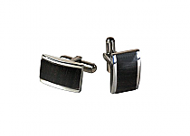 Brizard Cuff Links Macassar Ebony