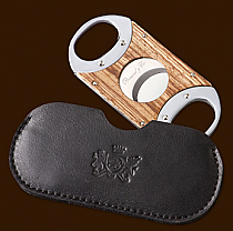 Brizard & Co. The Double Guillotine Sunrise Zebrawood Cigar Cutter