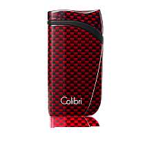 Colibri Falcon Carbon Fiber Single-Jet Flame Lighter Red
