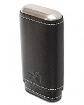 Xikar Envoy 3 Cigar Case Black Leather