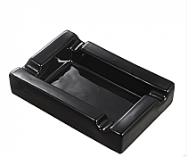 Visol Black Rectangular Cigar Ceramic Ashtray