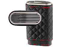 Xikar Envoy High Performance Cigar Case Black/Red Leather