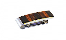 Brizard Money Clip Macassar Ebony