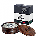 Kent Wood Shaving Bowl & Soap Dark Oak