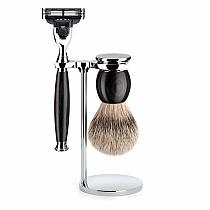 Muhle SOPHIST Shave Set M3 African Black Wood Silver Tip Badger