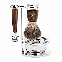 Muhle RYTMO Shave Set Safety Razor Ashwood