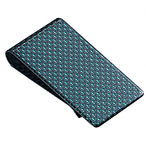 Visol Large Green Carbon Money Clip