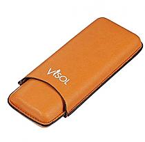 Visol Dakota Tan 60 Ring Gauge Cigar Case