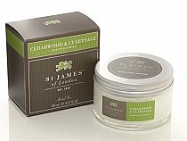 St. James of London Cedarwood & Clarysage Shave Jar