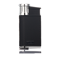 Colibri EVO Single-Jet Flame Lighter Black/Chrome