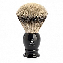 "Shavebrush Silvertip  XL.  Black  25mm / 0.98""  Resin"