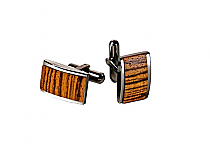 Brizard Cuff Links Zebrawood