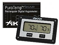 XIKAR PuroTemp Rectangular Digital Hygrometer