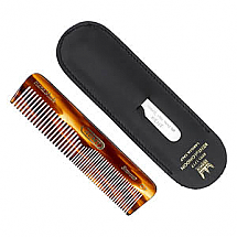 Kent Comb With Leather Pull & Case