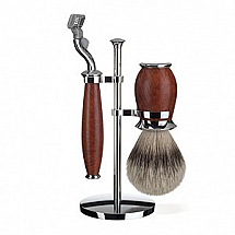 Shave Set 3 Pieces Mach3 Silver-tip Badger