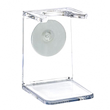 Shave Brush Stand Clear Acrylic