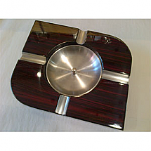 Ashtray Wood/Metal 4 Cigar