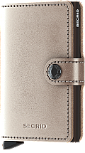 Secrid Mini Wallet Metallic Champagne