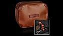 Travel wash bag brown