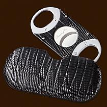 Guillotineblack lizard/pouch