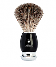 Muhle VIVO Black Resin/Chrome Pure Badger Shave Brush