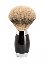 MUHLE EDITION NO. 1 CARBON FIBRE SILVERTIP BADGER SHAVING BRUSH